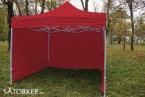 3 x 3 méteres Alap minőségű Mobilsátor Oldalfallal (Piros)