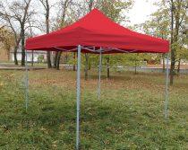 3 x 3 méteres Erős minőségű Mobilsátor Oldalfal nélkül (Piros)