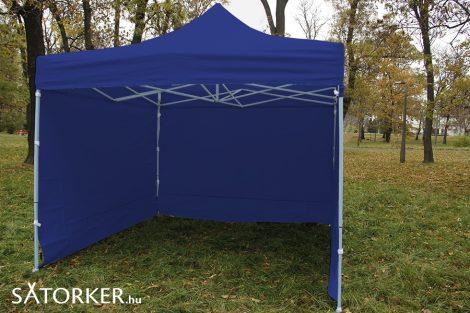 3 x 3 méteres Erős minőségű Mobilsátor Oldalfallal (Kék)