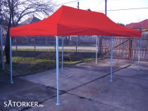3 x 6 méteres Erős minőségű Mobilsátor Oldalfal nélkül (Piros)