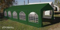 5 x 10 méteres Alap minőségű Partysátor  (Zöld)